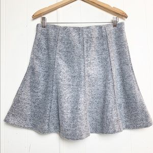 Loft Grey Fleece Circle Mini Skirt